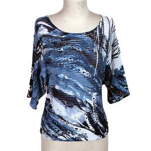 Alberto Makali Women's L Embellished Patterned Top